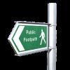 Nine Mile Ride Footway Arriving, enabling Finchampstead children to walk to school safely