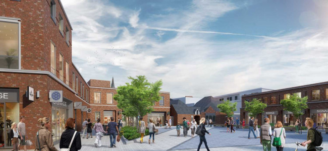 Wokingham Town Centre Regeneration – Peach Street Facade Demolishing