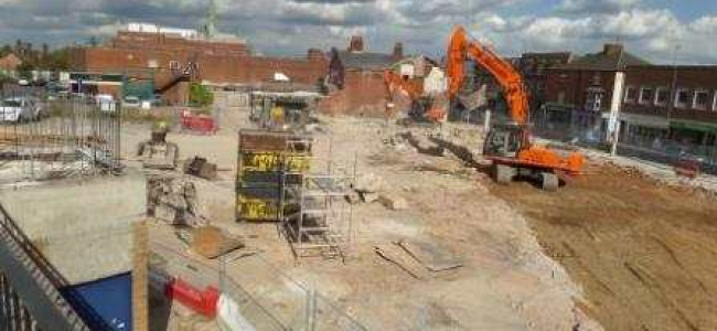 Work progressing in the heart of Wokingham