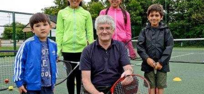 Players hit the courts for the Great British Tennis Weekend at Cantley Park