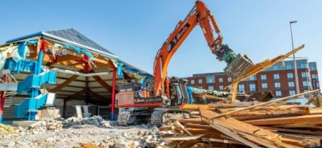 Demolition Of Carnival Pool and Fitness Centre in Wokingham Well Under Way