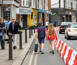 Social Distancing Barriers Installed In Wokingham Town Centre