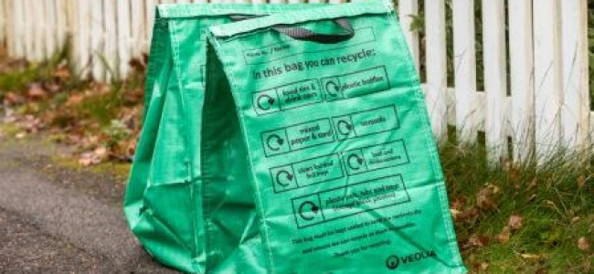New Waterproof Waste & Recycling Bags, Delivery Starting