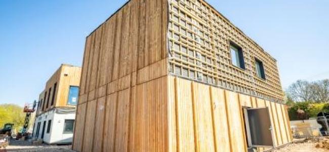 Dinton Pastures Activity Centre Eco Exterior Taking Shape