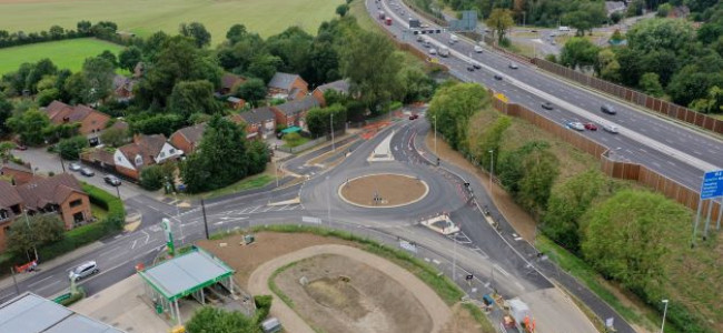Winnersh Relief Roundabout Construction Complete