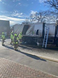 Wokingham Car Battery Causes Fire